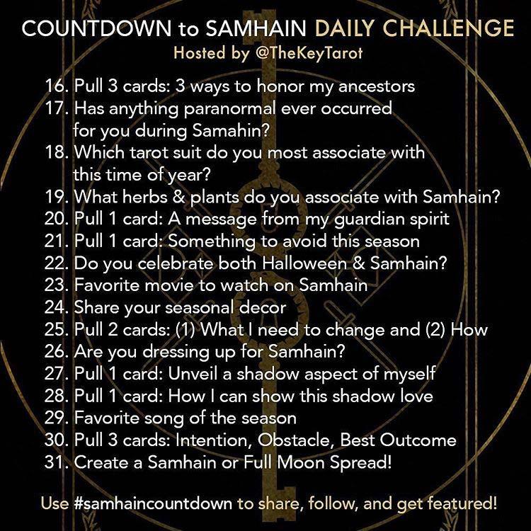 Countdown to Samhain #samhaincountdown