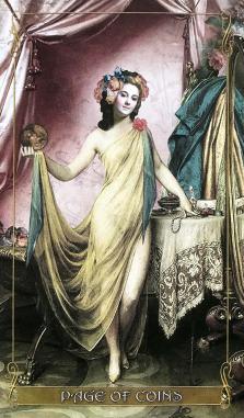 Madam Lydia Wilhelmina's Tarot - Page of Coins