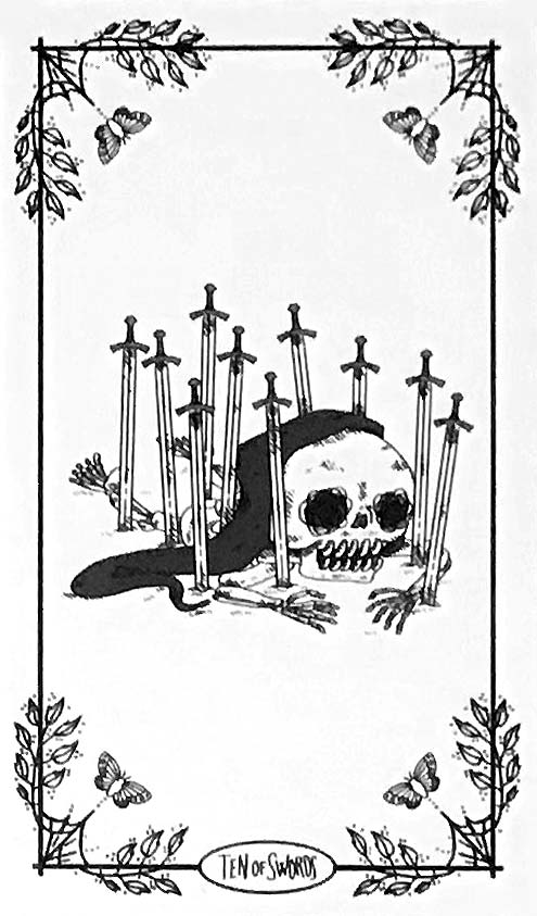 SkeleTarot - Nine of Swords