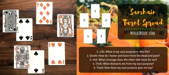 Samhain Tarot Spread - Trick or Treat Playing Cards