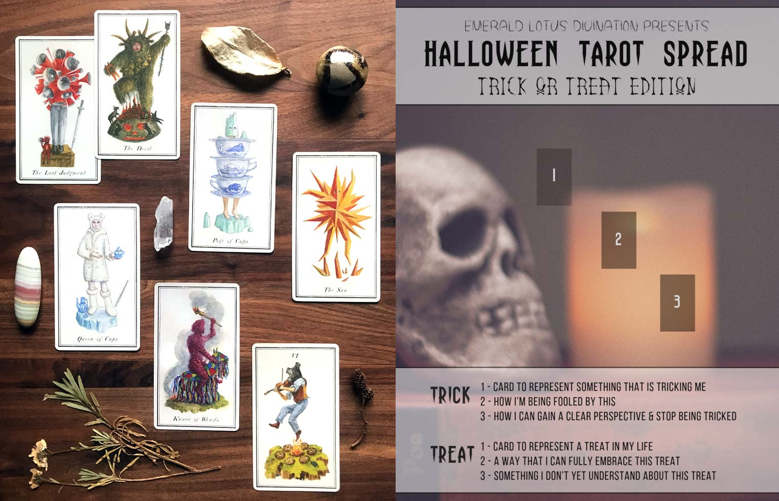 Halloween Tarot Spread - Carnival at the End of the World Tarot