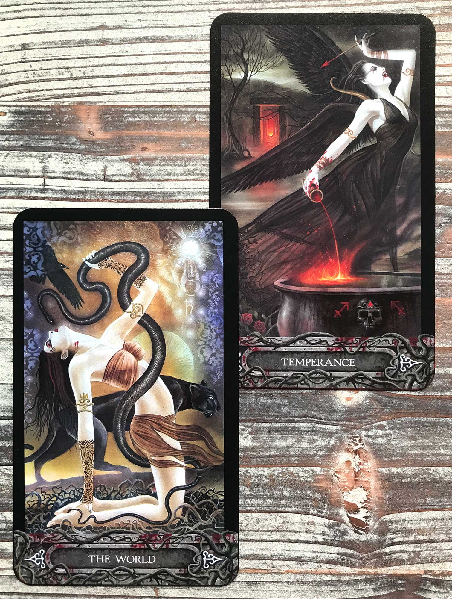 Tarot of Vampyres - The World and Temperance
