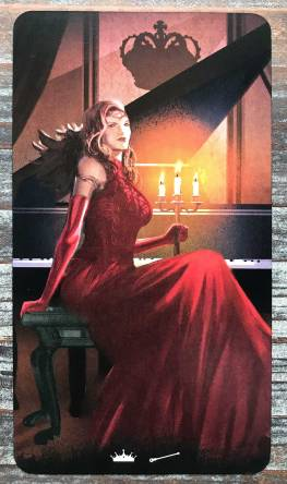 Tarot of Haunted House - Queen of Wands