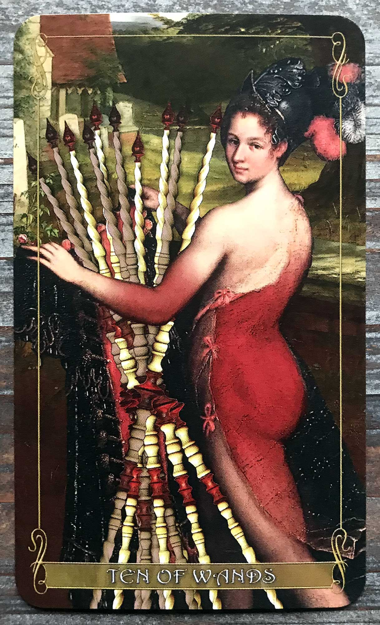 Madam Lydia Wilhelmina's Tarot - Ten of Wands