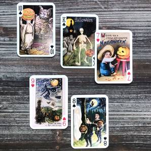 Flonz Vintage Halloween Playing Cards