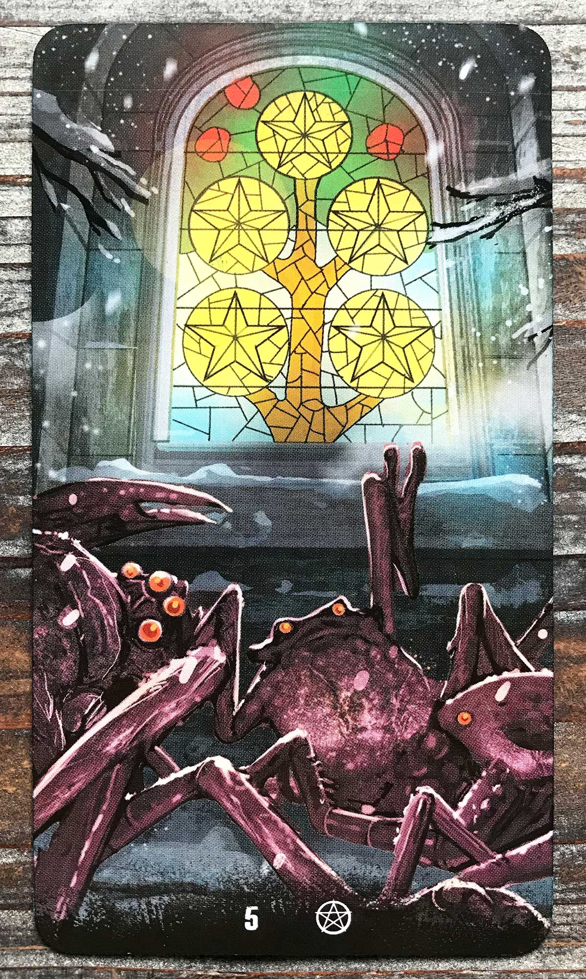 Tarot of Haunted House - Five of Pentacles