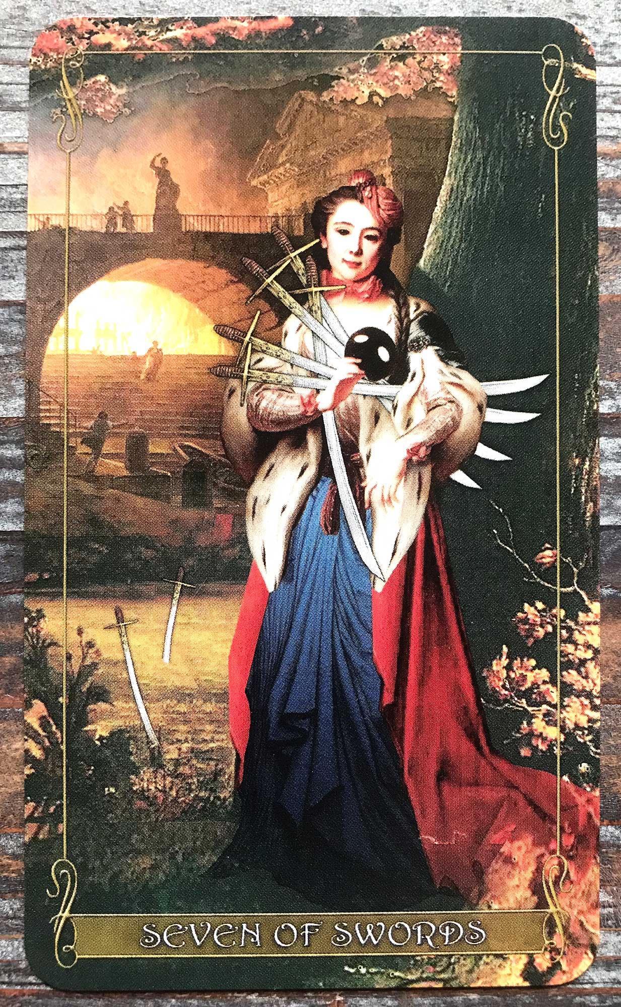 Madam Lydia Wilhelmina's Tarot - Seven of Swords