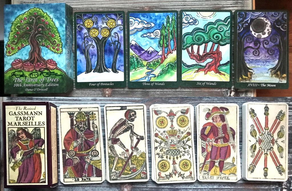 Tarot of Trees and The Revived Gassmann Tarot Marseilles
