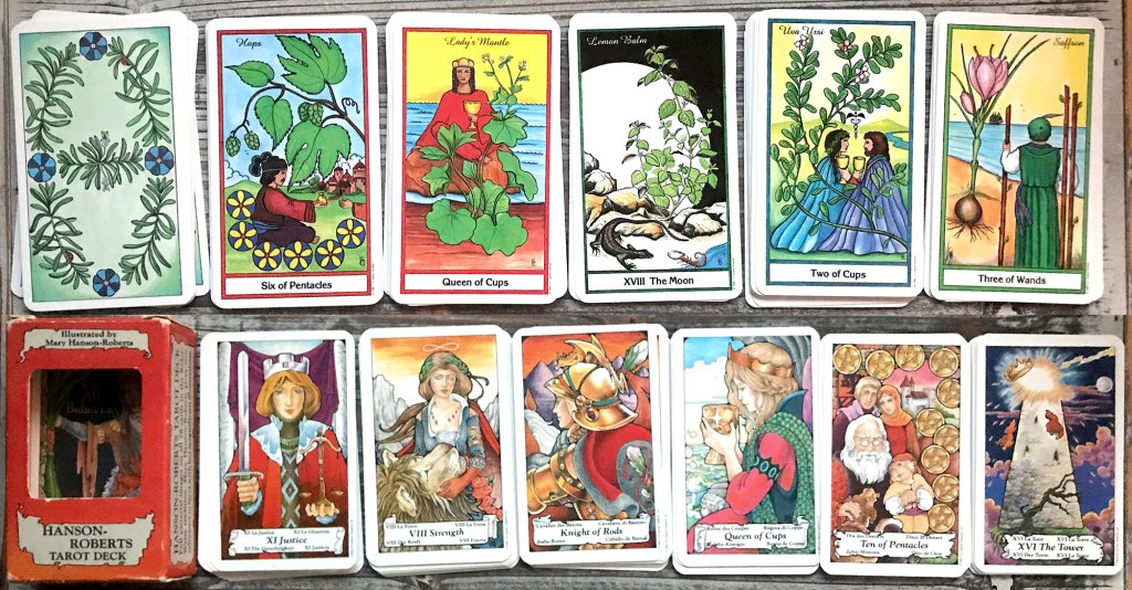 Herbal Tarot and the Hanson Roberts Tarot