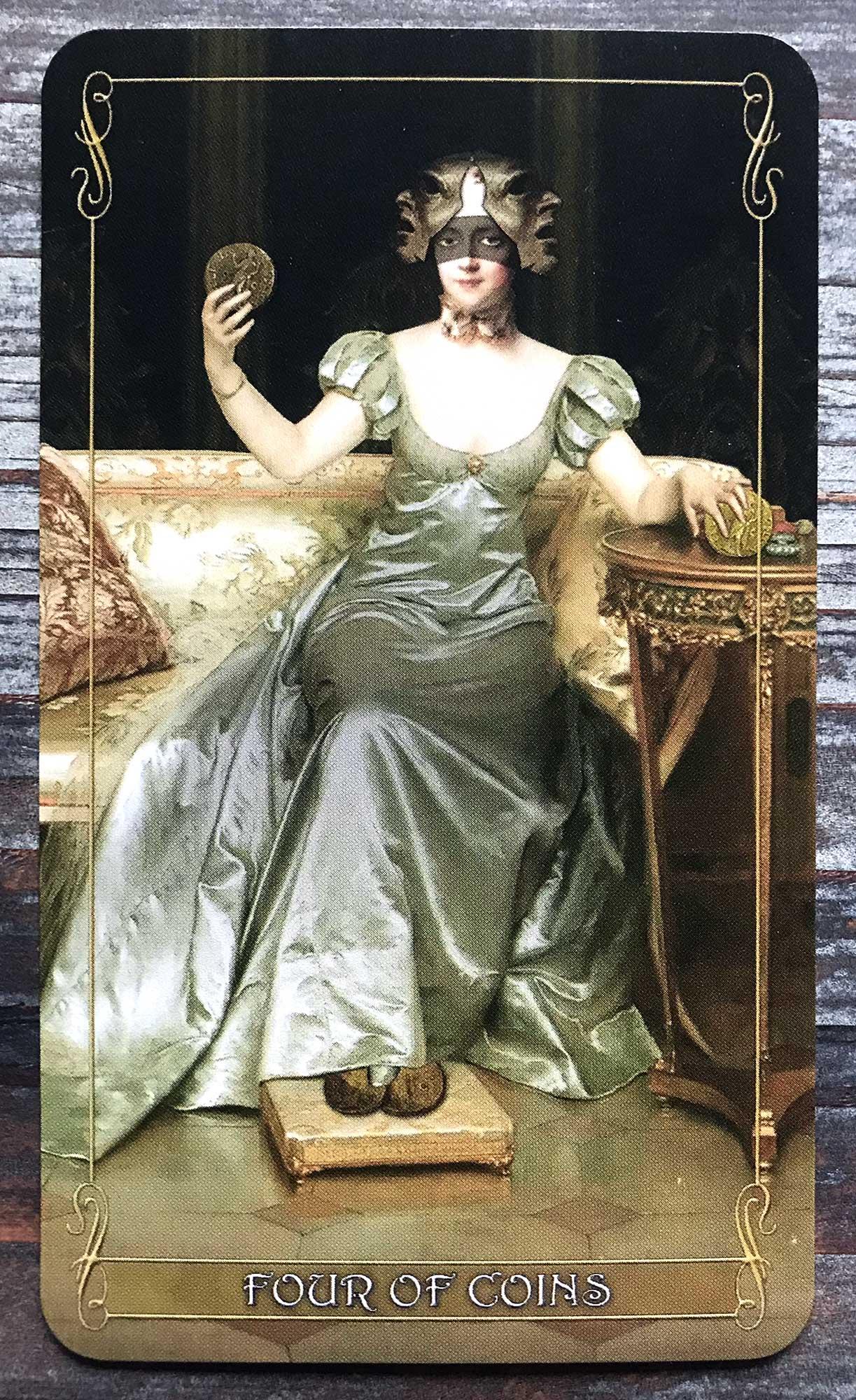 Madam Lydia Wilhelmina's Tarot - Four of Coins