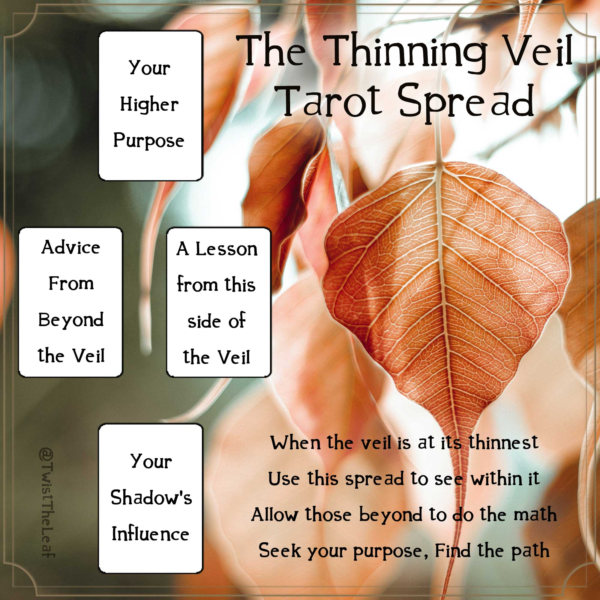Thinning Veil Tarot Spread by TwisttheLeaf