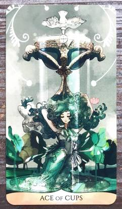 Traditional Manga Tarot - Ace of Cups