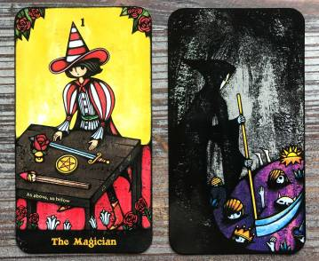 Delos Tarot - The Magician, Death