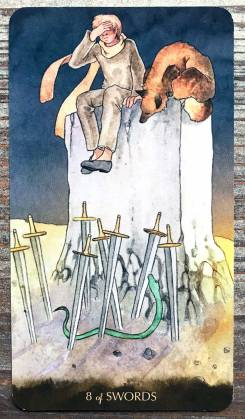 Tarot of the Little Prince - Eight of Swords