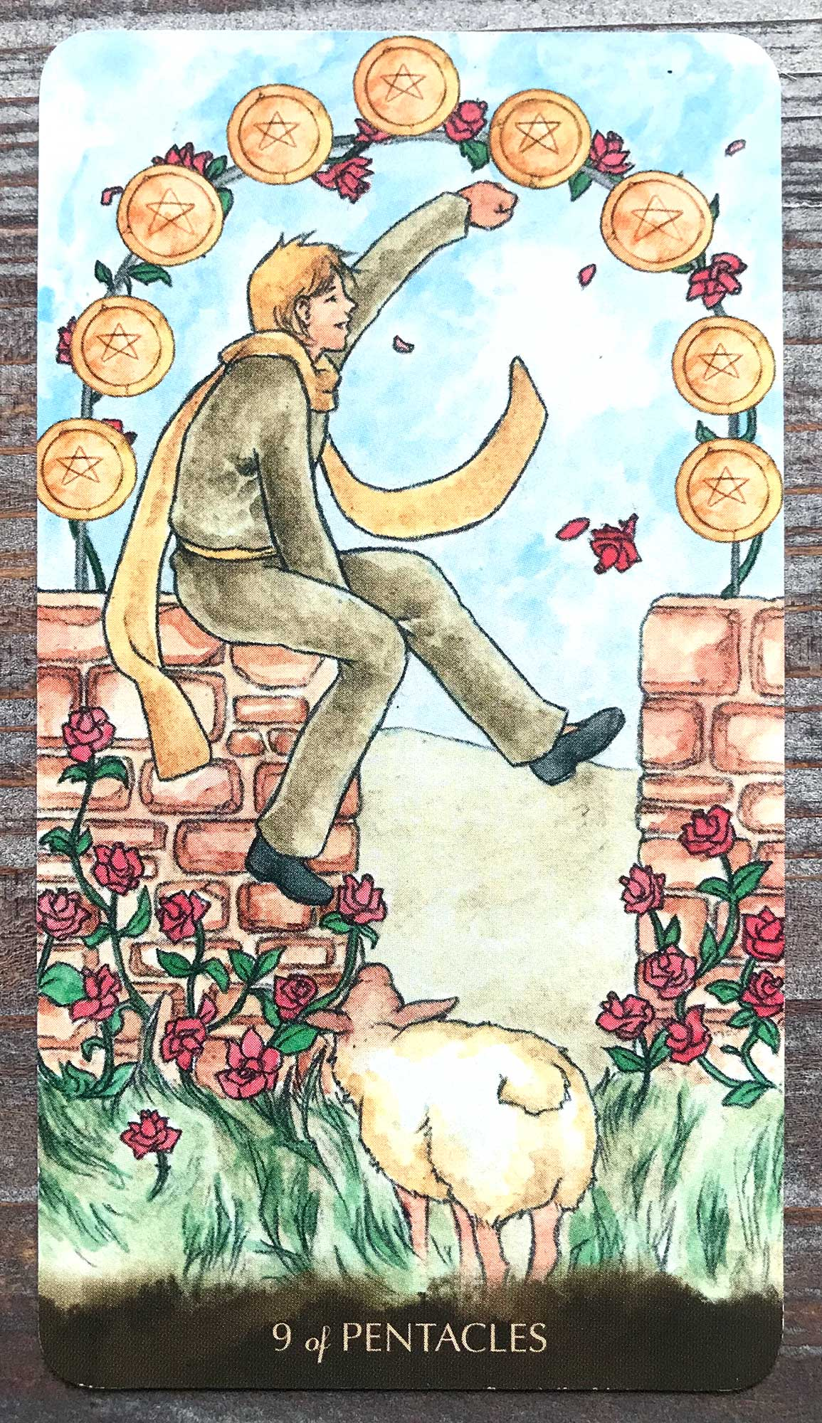 Tarot of the Little Prince - Nine of Pentacles