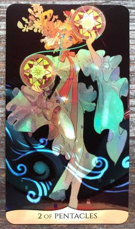 Traditional Manga Tarot - Two of Pentacles