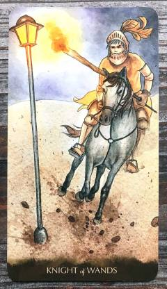 Tarot of the Little Prince - Knight of Wands