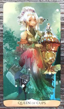Traditional Manga Tarot - Queen of Cups