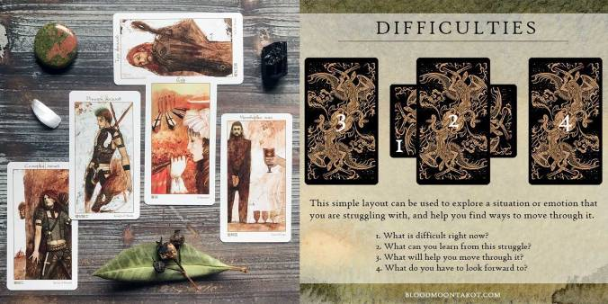 Difficulties Tarot Spread - The Lunatic Tarot