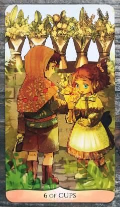 Traditional Manga Tarot - Six of Cups