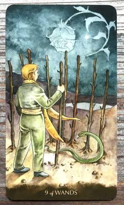 Tarot of the Little Prince - Nine of Wands