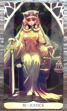 Traditional Manga Tarot - Justice