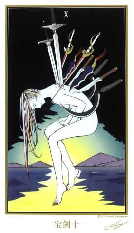 Japanese Traditional Tarot - Ten of Swords