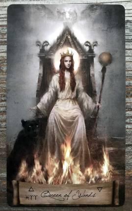 Heaven & Earth Tarot - Queen of Wands