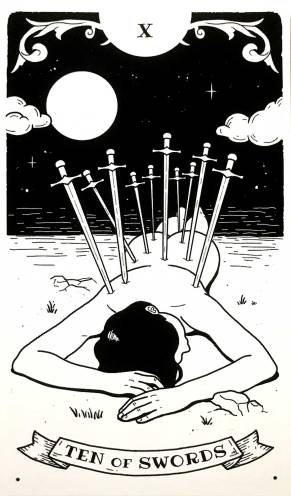 Broken Isn't Bad Tarot - Ten of Swords