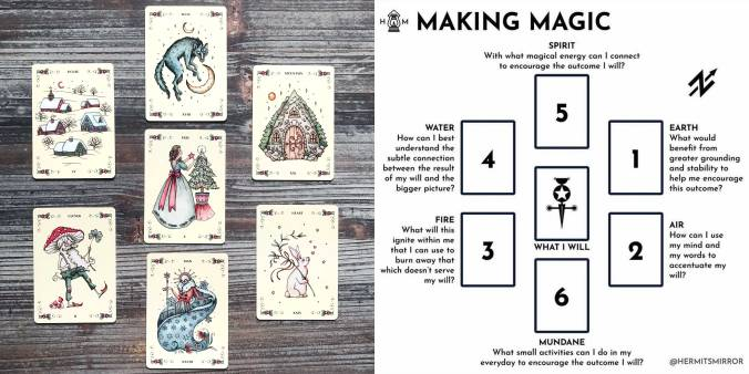 Yuletide Tales Lenormand - Making Magic Tarot Spread