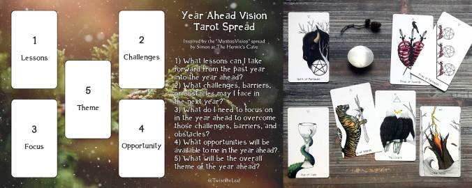 My Year Ahead Vision Tarot Spread - Naked Heart Tarot