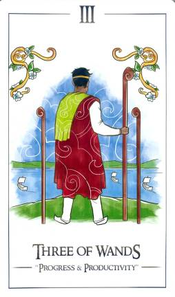 Simplicity Tarot - Three of Wands