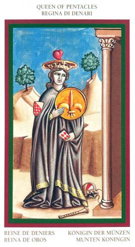 Giotto Tarot - Queen of Pentacles