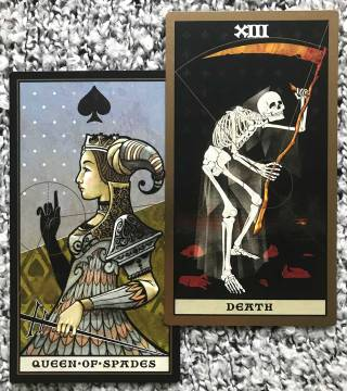The Keymaster Tarot - Death, Queen of Spades