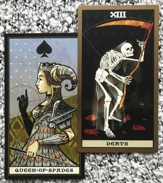 The Keymaster Tarot - Death, Queen of Spades