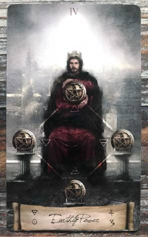 Heaven & Earth Tarot - Four of Pentacles