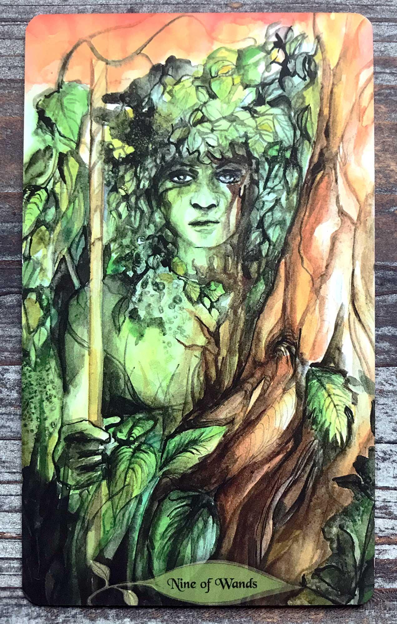 Bonestone & Earthflesh Tarot - Nine of Wands