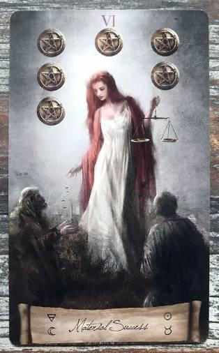 Heaven & Earth Tarot - Six of Pentacles