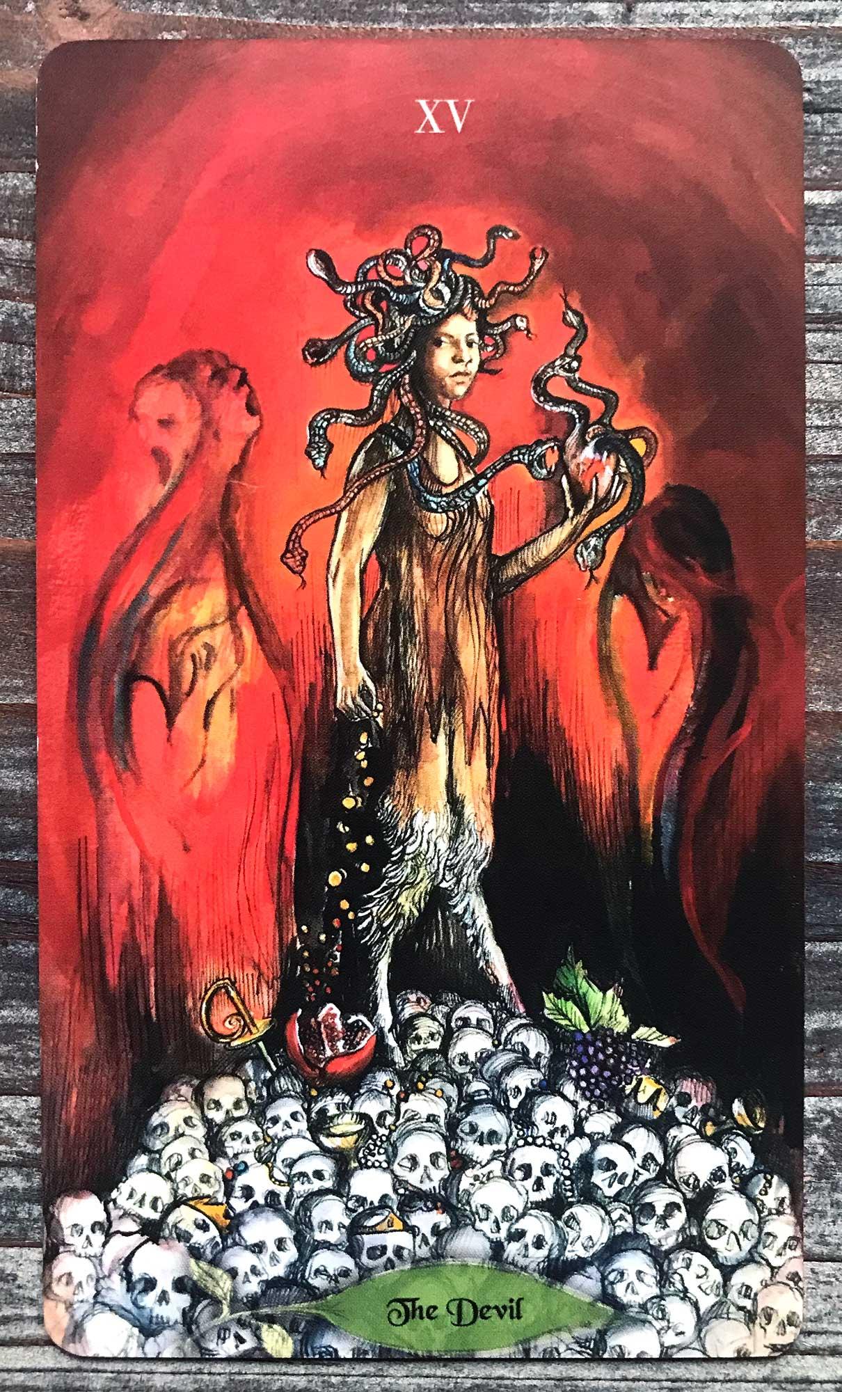 Bonestone & Earthflesh Tarot - The Devil