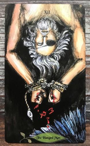 Bonestone & Earthflesh Tarot - The Hanged Man