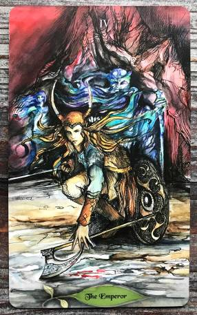 Bonestone & Earthflesh Tarot - The Emperor