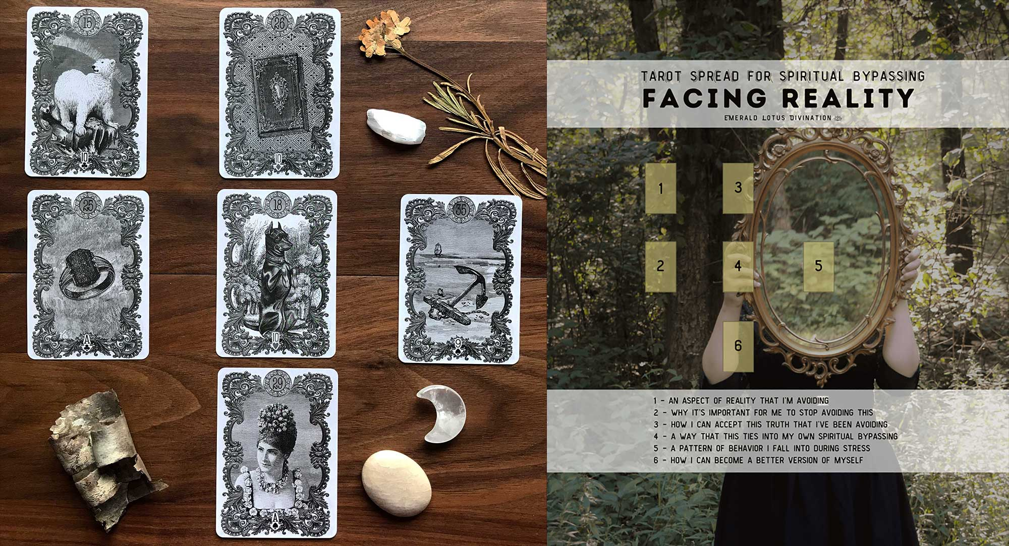 Lua Lenormand - Facing Reality Tarot Spread