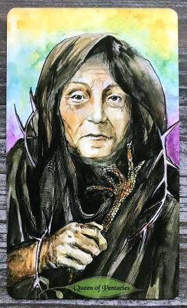 Bonestone & Earthflesh Tarot - Queen of Pentacles