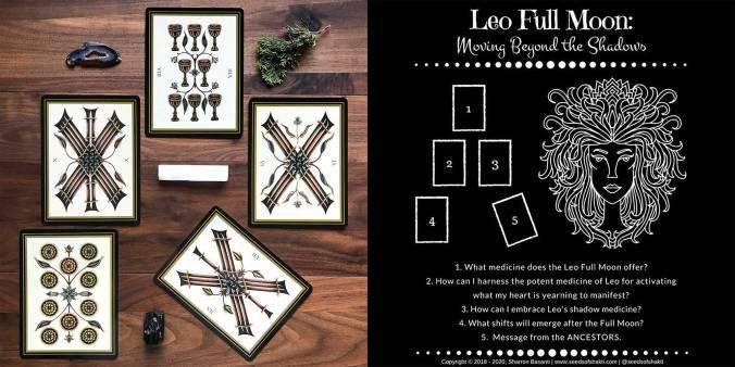 Leo Full Moon Spread - Tarot Noir