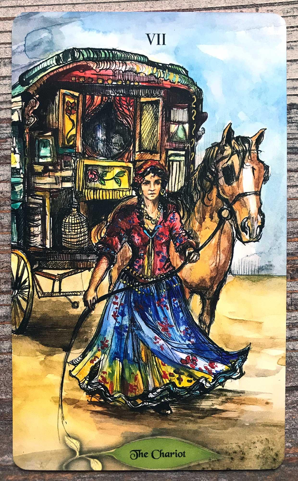 Bonestone & Earthflesh Tarot - The Chariot