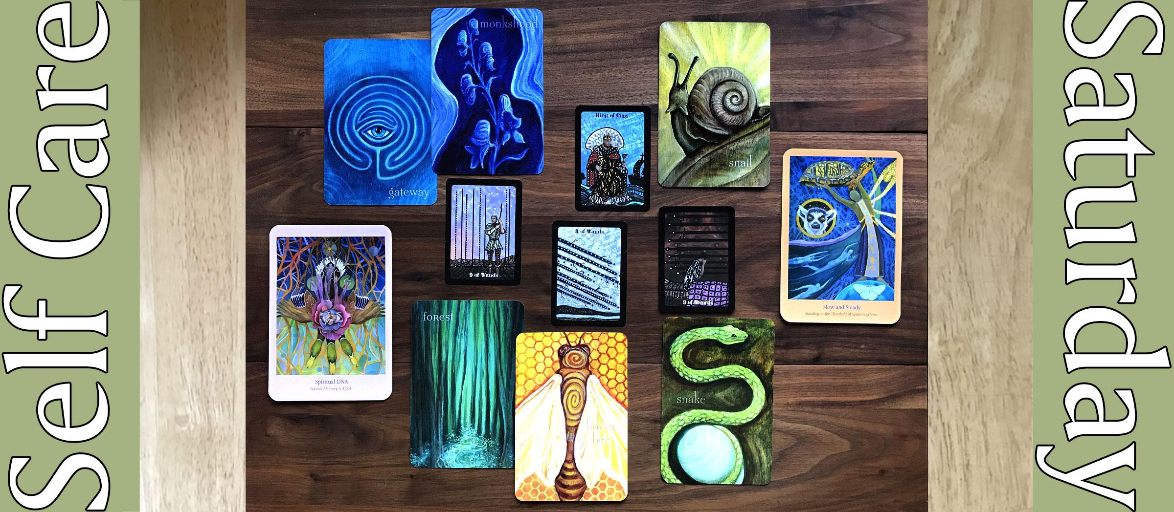 Liminal Spirits Oracle, Mosaic Dream Tarot, Heart Path Oracle Cards