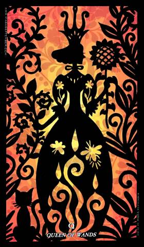 Silhouettes Tarot - Queen of Wands