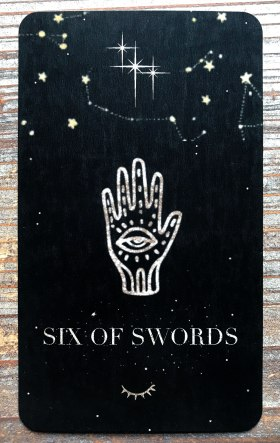 Moondust Tarot - Six of Swords
