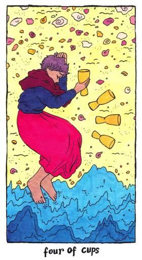 Cosmic Slumber Tarot - Four of Cups