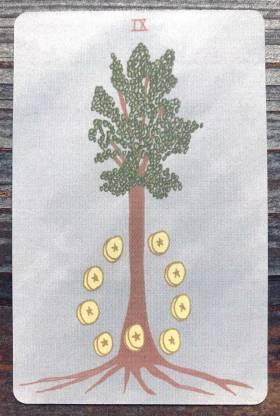 Mesquite Tarot - Nine of Pentacles